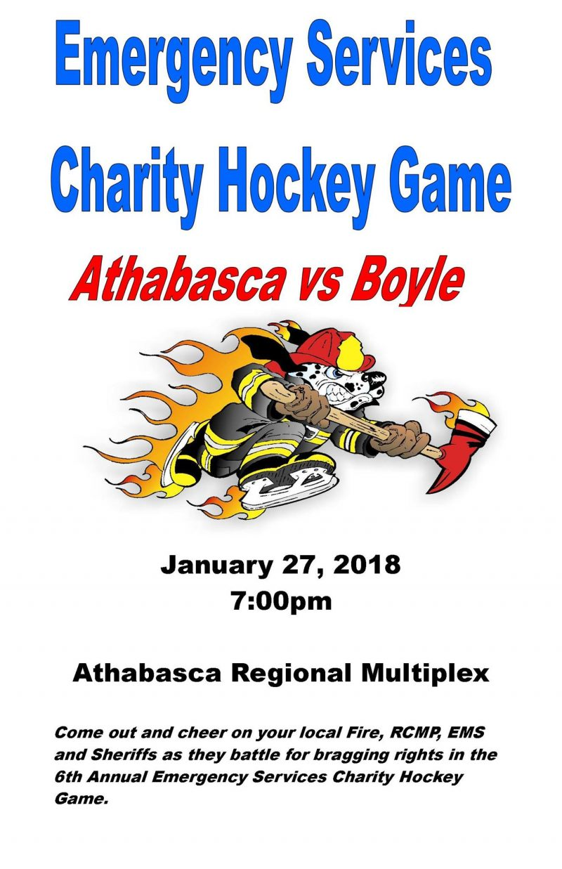 Emergency Services Charity Hockey Game - Athabasca Region